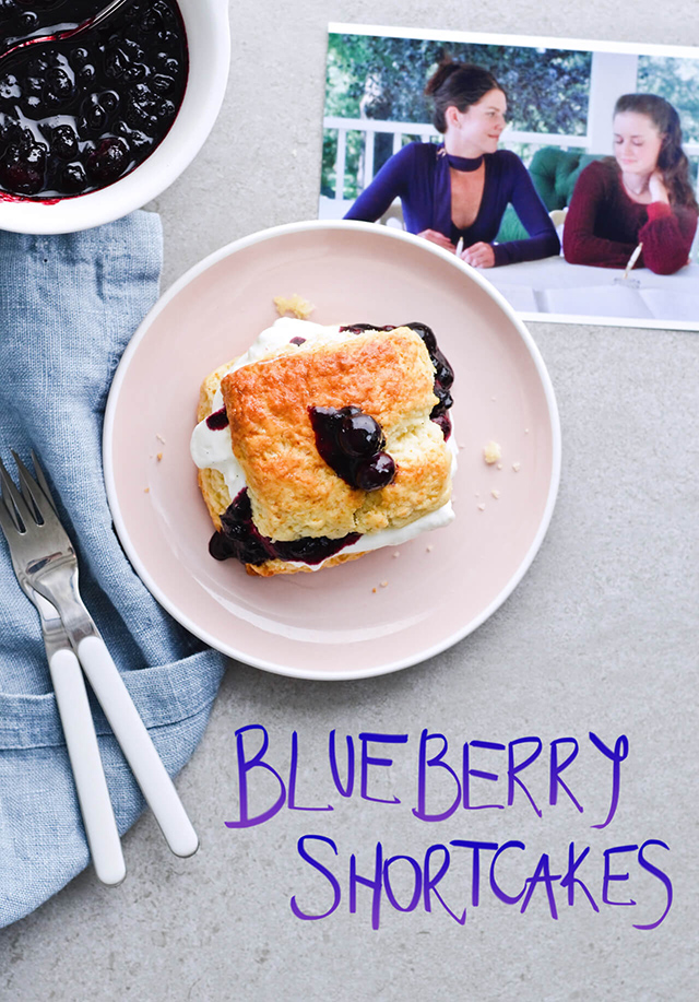 Easy vanilla blueberry shortcakes
