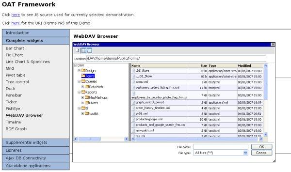 OAT - WebDAV Browser