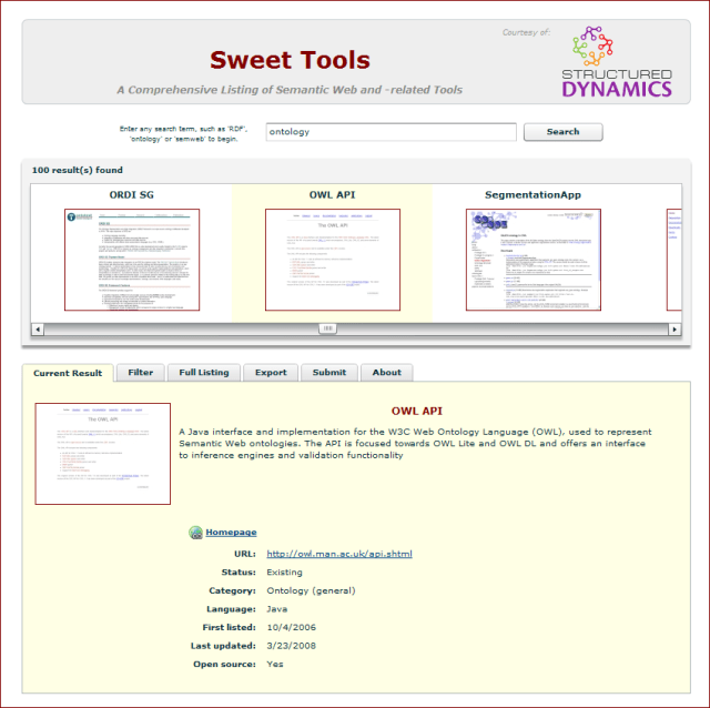 Sweet Tools structSearch View