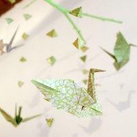 Faire Un Mobile En Papier Origami Et Des Branches En Bois Simplement