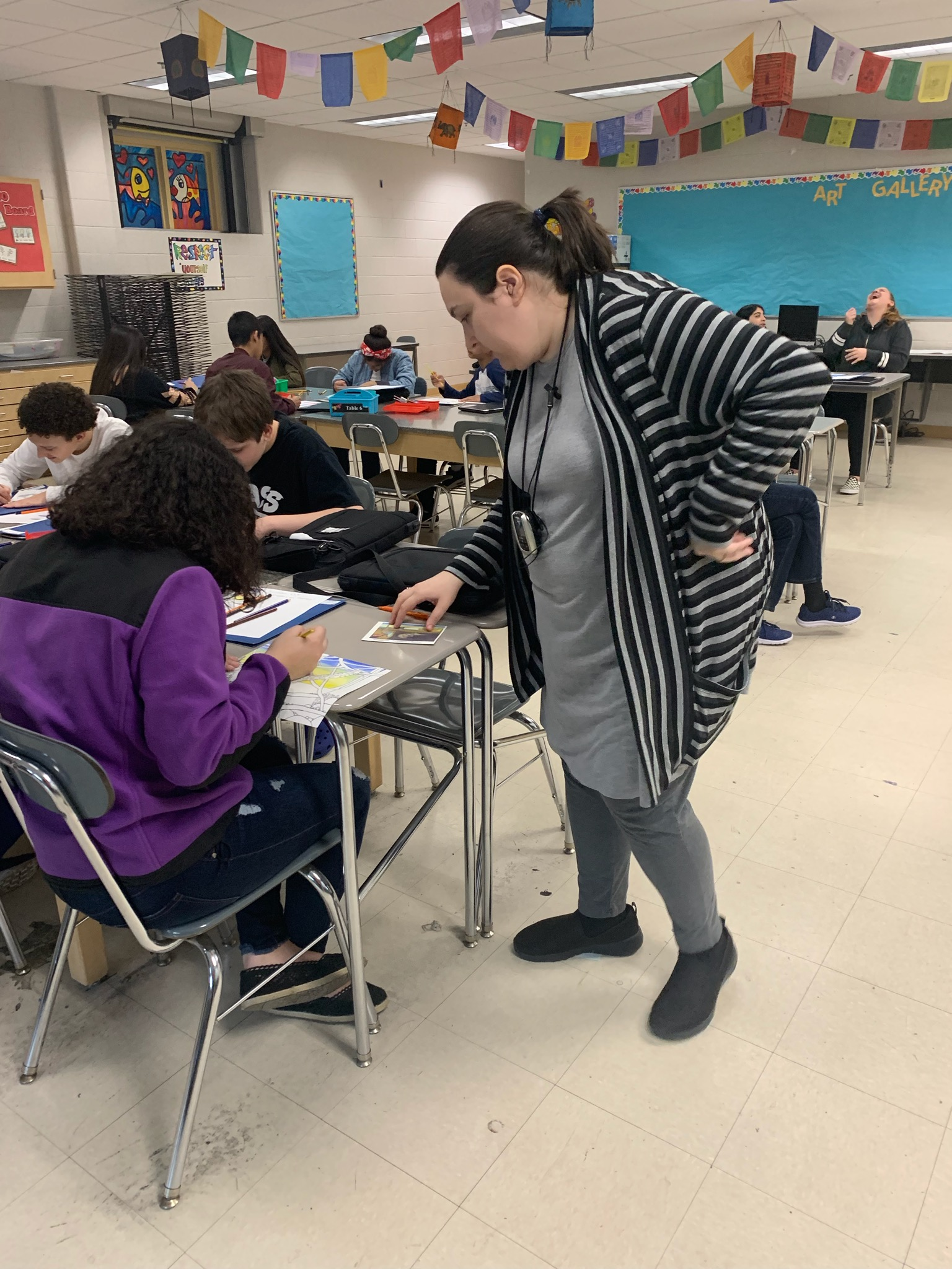 Ms. Pellegrino encourages all students and has high expectations of them and their work. She provides additional supports, modifications, adaptations, and differentiated instruction for learners of various needs.