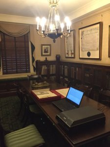 The V600 onsite at The Grolier Club