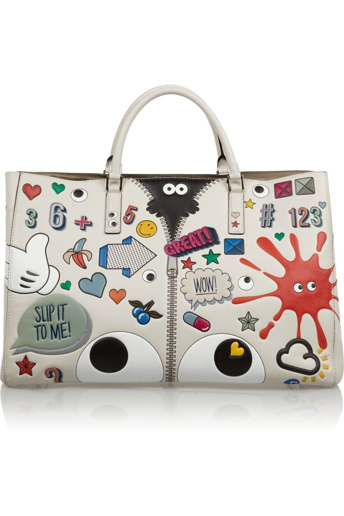ANYA HINDMARCH Ebury Maxi Stickered-Up leather tote $3,500