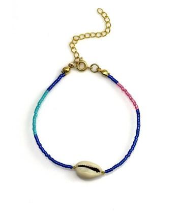 Miyuki bracelet turqoise -Blue - Pink - Shell