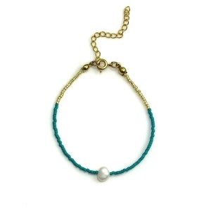 Miyuki bracelet Turqoise Pearl