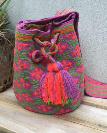 Wayuu Mochila hebra lila