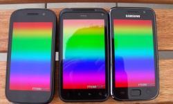 von oben Nexus_S Galaxy_S und Incredible_S