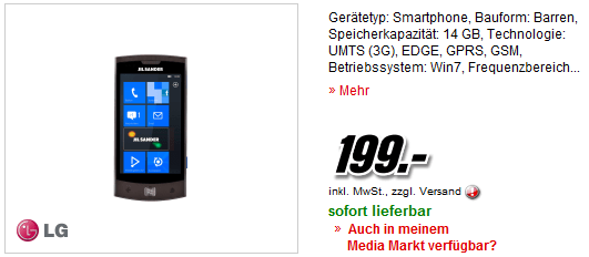 LG Jil Sander Mobile E 906 schwarz