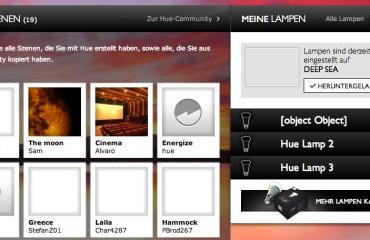 Philips hue webinterface