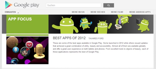 app focus best apps 2012 android