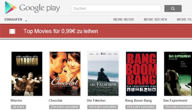 google play top filme 99 cent