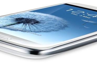 Samsung Galaxy S3 flach