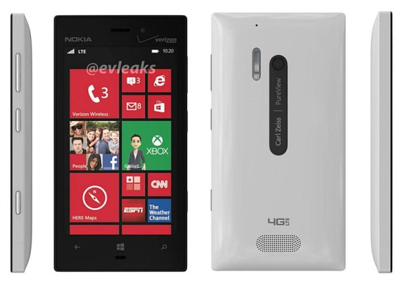 nokia lumia 928 render weiß