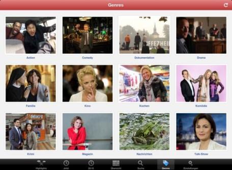 ON AIR 4.0 DE iPad - Genre Browser 4
