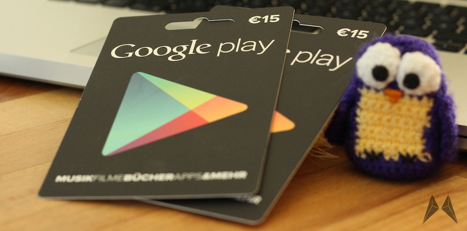 Google Play Gutscheinkarten Geschenkkarte