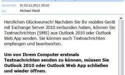 Microsoft Outlook Exchange SMS