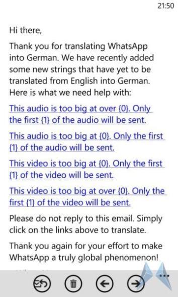 whatsapp wp sound video trans