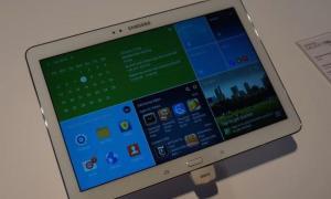 Samsung Tablet Header