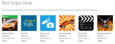 Red Stripe Deals für Windows Phone Aktionsapps für KW 15-2014