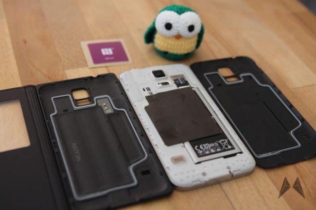 Samsung Galaxy S5 QI Receiver Zubehör IMG_9113