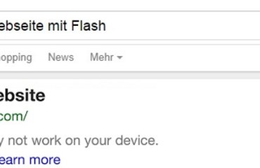 google suche no flash