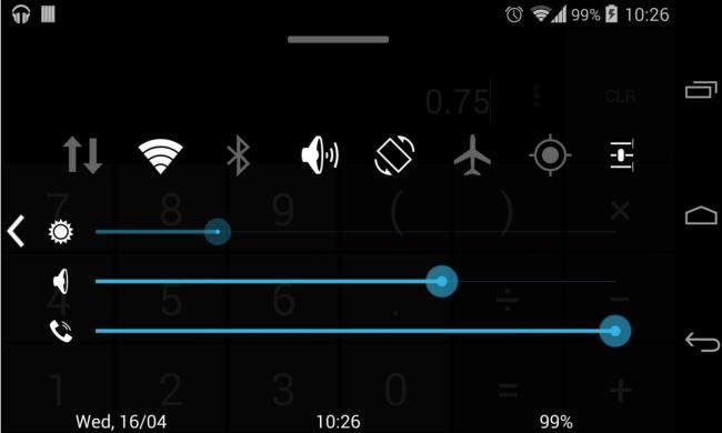 Quick Control Panel