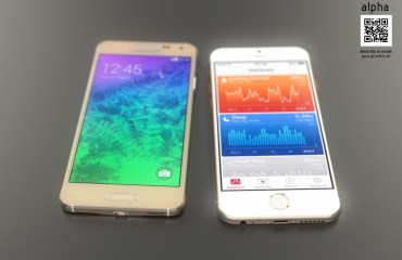 iPhone 6 vs Galaxy Alpha Konzept Header