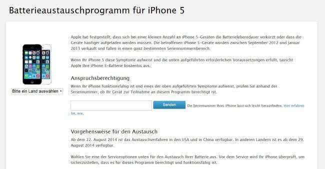 iphone 5 akku austauschprogramm