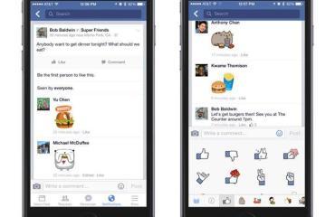 Facebook Sticker iPhone