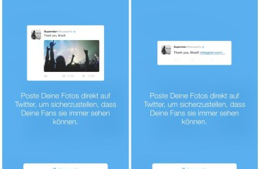 twitter hinweis instagram links
