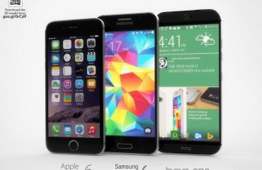 One M9 Galaxy S6 iPhone 6 (1)