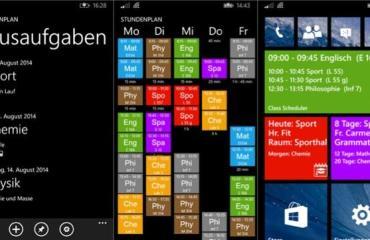Class Scheduler windows phone