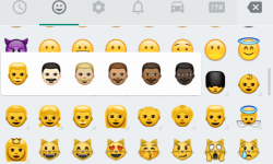 whatsapp emoji android hautfarben