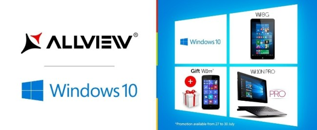 Allview presents its first Windows 10 devices (PRNewsFoto/AllView Mobile)