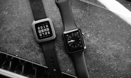Apple Watch Pebble Time Smartwatch Header