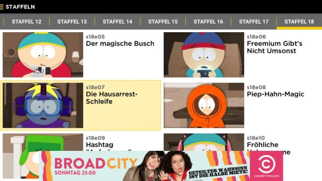 southpark android tv
