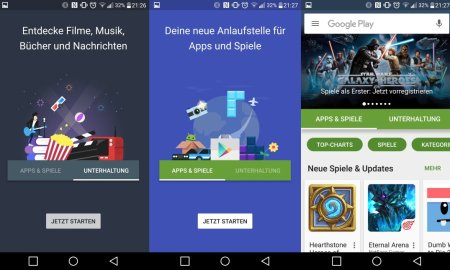 Google Play neues Design