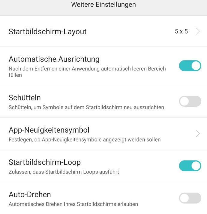 Huawei Mate 8 Homescreen