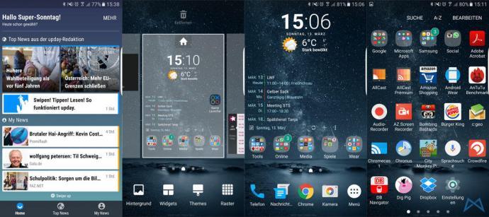 Samsung Galaxy S7 edge Lauuncher mobiFlip