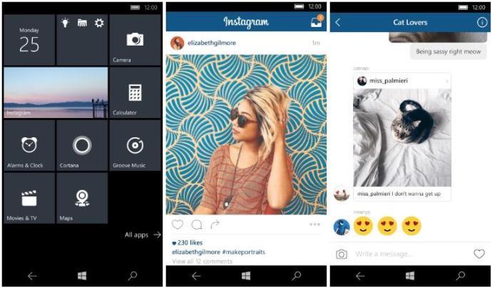 facebook apps windows instagram