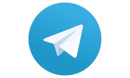 telegram logo header