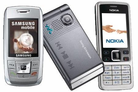 Samsung Sony Ericsson Nokia