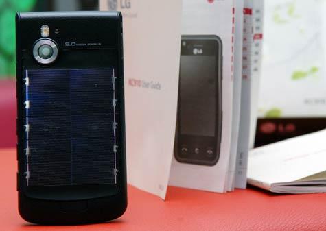 LG Aurinkopaneelipuhelin