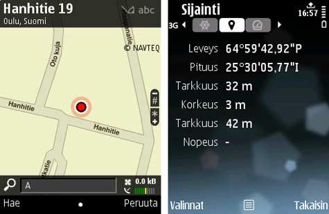 E75 Nokia Kartat