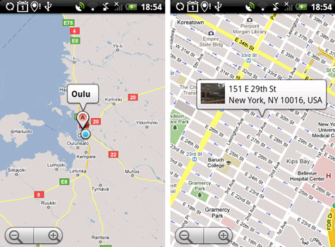 HTC Hero Sense Google Maps