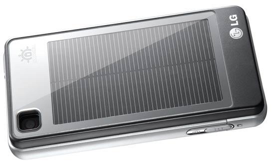 LG GD510 aurinkopaneeli