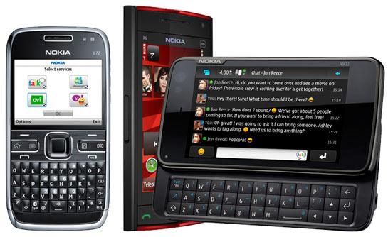 Nokia E72, X6 ja N900