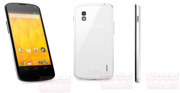 Nexus 4, valkoinen