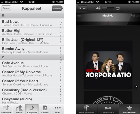 iOS 6 sovelluksia