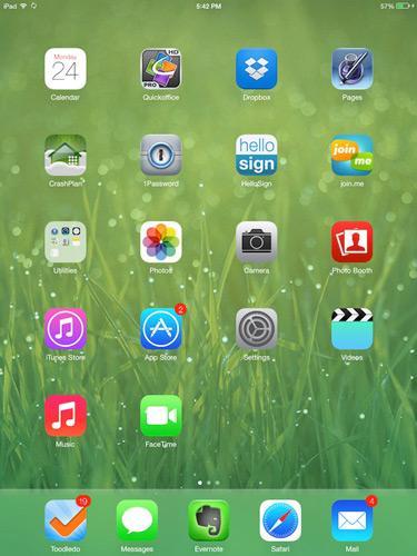iOS 7, iPad